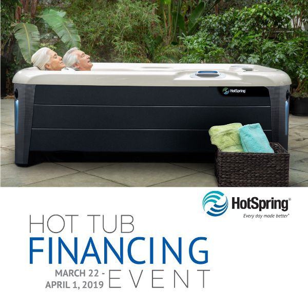 March Hot Tub Financing Event